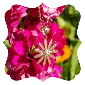 Jewelry - 14kt. Rose and Yellow Gold Flower Charm Pendant